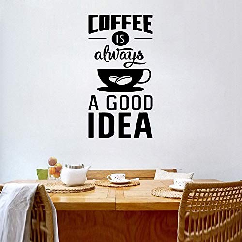 Tianpengyuanshuai Wandtattoo Espresso Kaffee ist eine Gute Idee Tasse wandaufkleber bar Cafe Vinyl wandtattoo küche Kunst DIY Poster Dekoration 45 cm x 102 cm