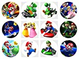 12 Stück Muffinaufleger Muffinfoto Aufleger Foto Bild Super Mario Bros (29) rund ca. 6 cm *NEU*OVP*