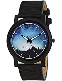 RELISH RE-S8062BB Black Slim Analog Watches For Men's And Boy's