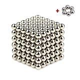 ZEJUN101 Puzzle de Bolas Magneticas de Neodimio, Puzle de Bolas de 222 Bolas Magnéticas 5mm (Gris)