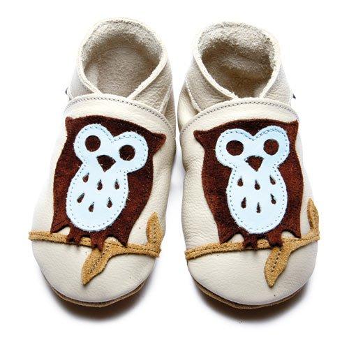 Inch Blue - 1593 - Chaussures Bébé Souples - Owlie - Beige/Chocolat