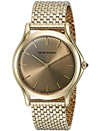 e9183eb99400 Emporio Armani Swiss Made Unisex ARS2008 pantalla analógica Swiss Quartz  gold-tonewatch