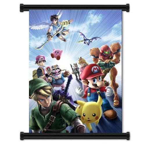Super Smash Bros Brawl Game Fabric Wall Scroll Poster (81.28cm x 106.68cm)