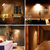 Motion Sensor Light, iTechole [2 Pack] Cupboard Night Light, USB Rechargeable Battery Powered Light with 24 LED, Removable Magnetic Strip Stick-On Wardrobe, Closet, Cabinet, Kitchen, Stairs, etc