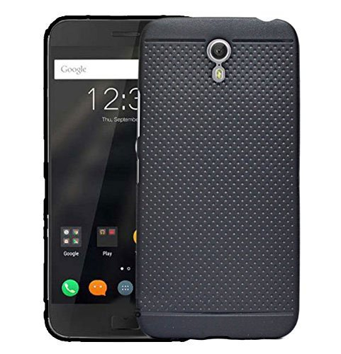 RSC POWER+ 360* Protection Premium Dotted Designed Soft Rubberised Back Case Cover For Huawei Lenovo Zuk Z1 -Black