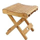HJHY® Taburete plegable de bambú Portable Household Madera maciza Mazar outdoor Silla de pesca Banco pequeño Taburete cuadrado correcta postura sentada ( Color : #2 )