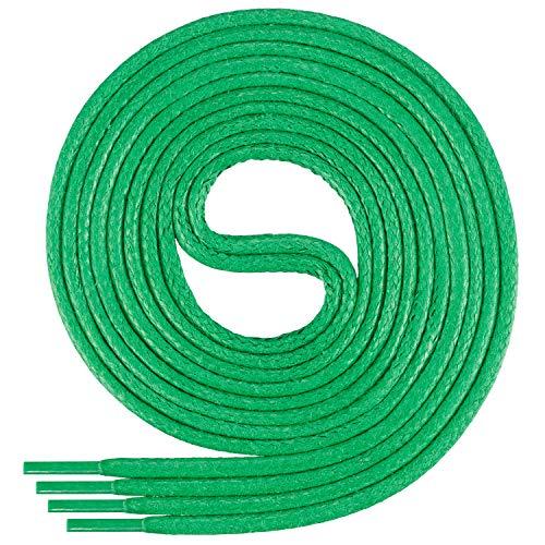 Di Ficchiano-SW-03-green-100 gewachste runde Schnürsenkel, Schuband, Laces, Durchmesser 2-4 mm für Businessschuhe, Anzugschuhe und Lederschuhe -