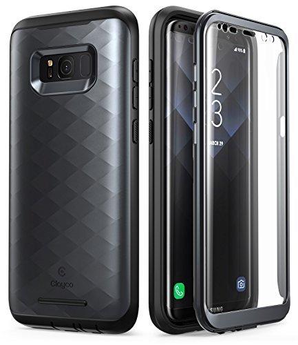 Cover Galaxy S8, Custodia Rigida 360 con Protezione dello Schermo [Serie Hera] Full-body Case per Samsung Galaxy S8 (Nero)