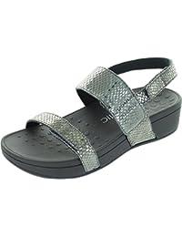 Vionic Pacific Bolinas - Sandalias de vestir de piel para mujer plateado plata