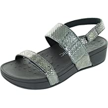 Vionic Womens 382 Bolinas Pacific Leather Sandals