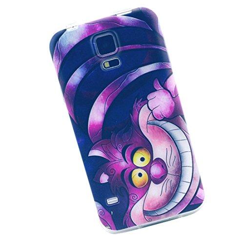 Cuitan Alta Qualità TPU Morbido Custodia per Samsung Galaxy S5 Mini, Gatto divertente Modello Back Cover Moda Design Protezione della copertura Protettivo Caso Cassa Case per Samsung Galaxy S5 Mini - Gatto divertente