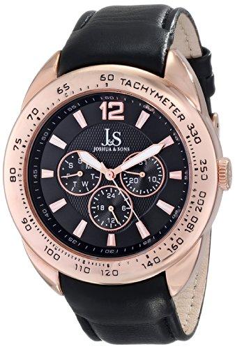 Joshua & Sons JS-45-RG - Reloj de cuarzo para hombres, color negro