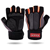 Trainingshandschuhe Acdyion Fitness Handschuhe Mikrofasermaterial und Sichere Silikonhandfläche...