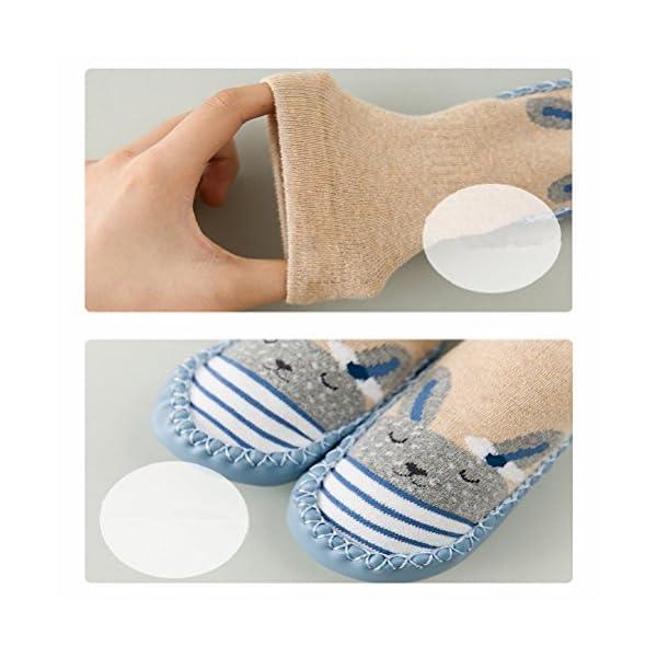 Calcetines de bebé, AMEIDD Calcetines de bebé niña niño Calcetines de algodón Antideslizantes Medias Calientes para… 4