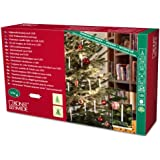 """Konstsmide 1167-000 LED Baumkette """"SLIM LINE"""" mit 10 großen Topbirnen / für Innen (IP20) /  4,5V Innentrafo / mit Schalter / 10 warm weißen Dioden / grünes Kabel"""