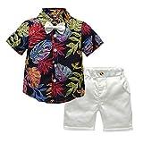 ef95cec674faff VICGREY - Bambina Ragazzi Piccolo A Maniche Corte Floreale T-Shirt  Camicetta + Pantaloncini Set
