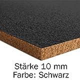 Pinnwand Korkplatte - 915 x 610 x 10 mm (Schwarz)