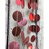 Girlande aus metallic rosa Kreisen, 3 Meter
