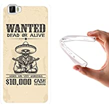 Funda Cubot X17, WoowCase [ Cubot X17 ] Funda Silicona Gel Flexible Cartel Calavera Wanted Dead Or Alive, Carcasa Case TPU Silicona - Transparente