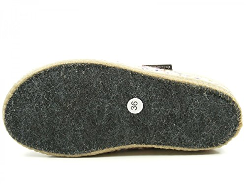 Haflinger 611086-0 Walktoffel uni Chaussons mixte adulte Beige