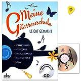 Mon École de guitare facile-avec CD et techniques de Dunlop plek-Butée de poignées AKKORD,, rythmes d'accompagnement, Chansons Accompagner, etc....