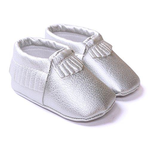 Lemandy , Chaussures premiers pas pour bébé (fille) bordeaux 11cm light silver