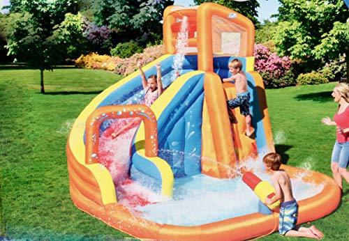 Bubble-Store Wasserrutsche, Wasserpark für Kinder mit Rutsche und Pool, Kletterwand, Wasserblaster, Sicherheitsnetzabdeckung, (BxTxH) ca. 365 x 320 x 270 cm
