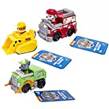 Nickelodeon, Paw Patrol - Rescue Racers 3pk Vehicle Set Marshal Rubble, Rocky