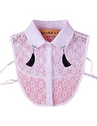 Élégant blanc dentelle collier fake détachable colliers en cristal accessoires de vêtements pour les femmes, D