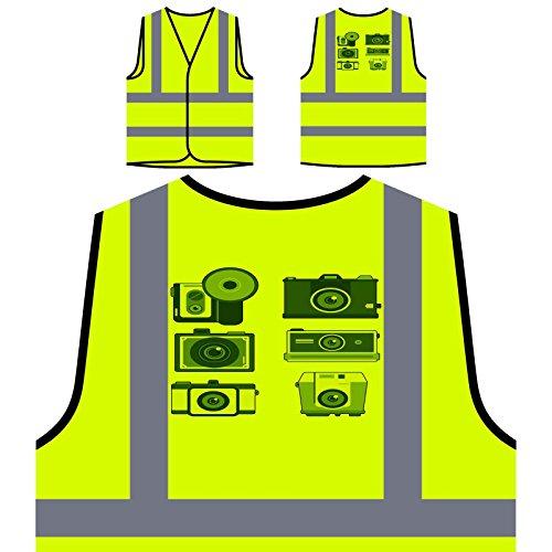 Foto Kamera Video Personalisierte High Visibility Gelbe Sicherheitsjacke Weste p715v