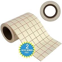 Rollo de cinta de papel para transferencia Angel Crafts de 15.2cm por 15M TRANSPARENTE con rejilla - ALINEAMIENTO PERFECTO para Cricut o Cameo o vinilos auto-adhesivos para paredes, señales, pegatinas, ventanas y otras superficies lisas.