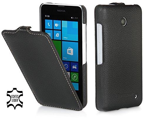 Stilgut B00KCN494I Handy Tasche Book Schwarz - Handyhüllen (Bücher, Nokia, Lumia 630 & 635, schwarz) (Nokia Lumia 635 Handy Fall)
