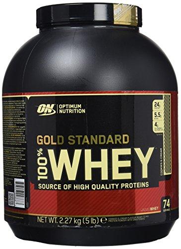 Optimum Nutrition Gold Standard 100% Whey Proteína en Polvo, Galletas y Crema - 2270 g
