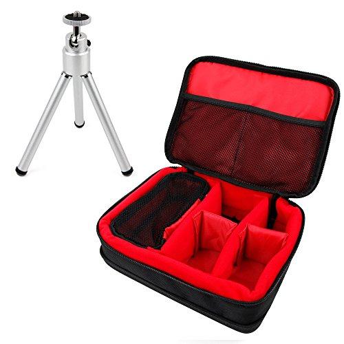 DuraGadget - Sichere Aufbewahrungs- und Transporttasche mit Eva-Material unterlegtem Boden für Ihren WOWOTO Mini Beamer A5 | H8 | H9 sowie Platz für Zubehör + Mini Stativ