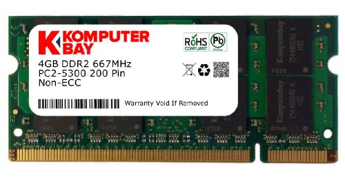 Komputerbay 4GB DDR2 667MHz PC2-5300 PC2-5400 DDR2 667 (200 PIN) di memoria SODIMM Laptop