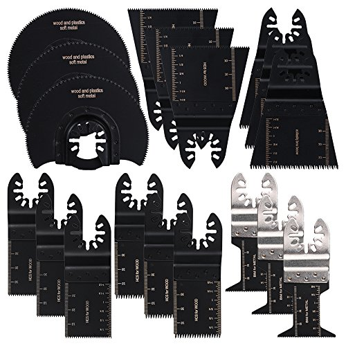 OxoxO 18 Pieces Oscillating Multitool Blades Quick Release Saw Blade Set for Wood and Metal£¬Fit Mastercraft, Master Mechanic, Matrix, MEEC, Millarco prof, Milwaukee