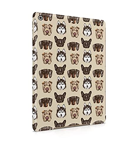 Various Dog Breed Heads Pattern Apple iPad Air 1 Snap-On Hard Plastic Protective Shell Case Cover Tasche Handy Hülle