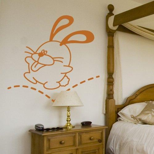 STICASA ' quot;Jumping Bunny–68x 66cm–nuss braun–Wandtattoo