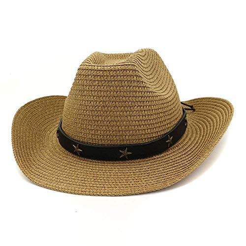 CXHMY Hut Sonnenhut Damen Herren Outdoor Strandhut Sonnenhut Visier Western Cowboyhut Fedo
