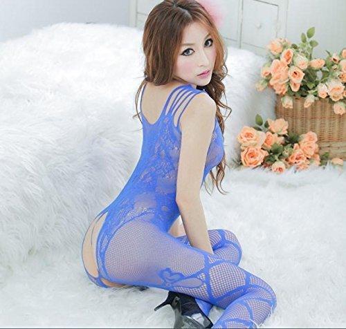 wexe.com hyhan im Schritt offen zusammen Gurt Netto Media des Körpers in Dessous, Blau (Halloween Noche De De Trajes)
