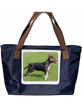 Shopper /Schultertasche / Einkaufstasche / Tragetasche / Umhängetasche aus Nylon in Navyblau - Größe 43x33cm -...