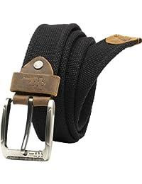 DELHI TRADERSS Canvas Belt for Men (Black, NKBELT_07)