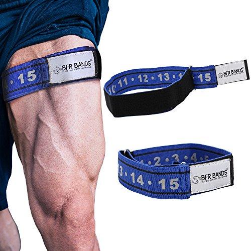 BRF Bands Okklusion-Trainingsband, starre Edition, Einschränkung der Durchblutung für schnelles Muskelwachstum, ohne das Anheben schwerer Gewichte, verstellbarer, rutschsicher (Leg Strap Bands)