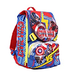 Idea Regalo - Seven Captain America Civil War 2B8001604-591 Zaino Sdoppiabile, 28 litri, Poliestere, Multicolore
