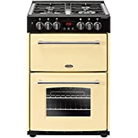 Belling Farmhouse 60DFCRM in Cream 4713 60cm 444444713 Freestanding Dual Fuel Cooker
