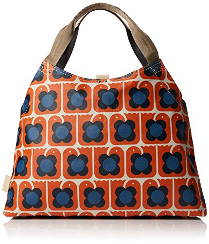 Orla Kiely Love Birds Print Large Holdall, Sacs portés main Orange (Persimmon)