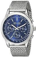SO & CO New York Monticello 5006A.2 - Reloj de pulsera Cuarzo Hombre correa deAcero inoxidable Plateado de SO & CO New York
