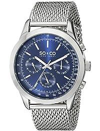 SO & CO New York Monticello 5006A.2 - Reloj de pulsera Cuarzo Hombre correa deAcero inoxidable Plateado
