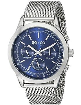 SO&CO New York Herren-Armbanduhr Analog Quarz Edelstahl - 5006A.2
