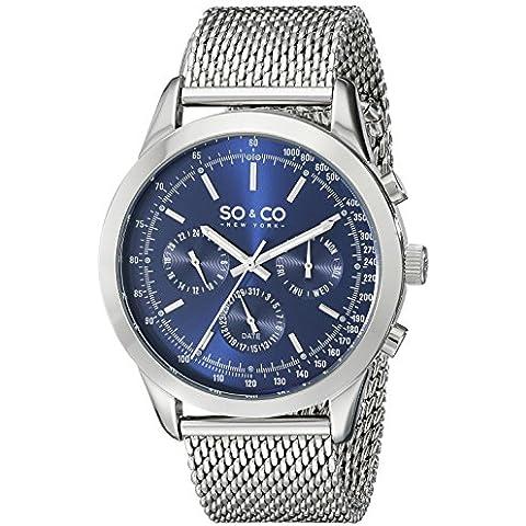 SO & CO New York Monticello 5006A.2 - Reloj de pulsera Cuarzo Hombre correa deAcero inoxidable